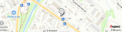 Надин на карте Курска