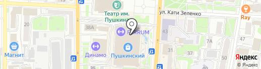 Я люблю кофе на карте Курска