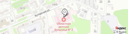 Курская областная детская больница №2 на карте Курска