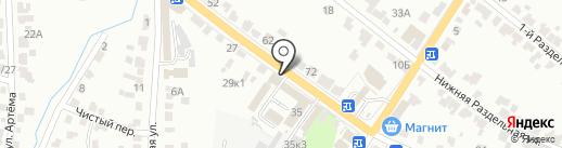 ГАЗАВТО на карте Курска