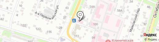 Скорая медицинская помощь на карте Курска