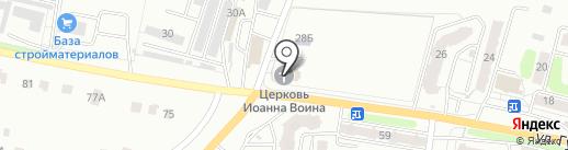 Храм святого мученика Иоанна Воина на карте Калуги