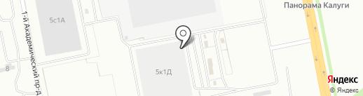 Академия капитального строительства на карте Калуги