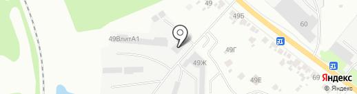 Автоматические ворота на карте Курска