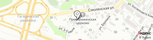 С Берендеевой Слободы на карте Калуги