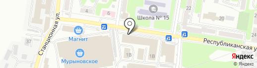 Мурыновское, ПО на карте Курска