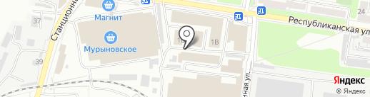Магазин игрушек и канцтоваров на карте Курска