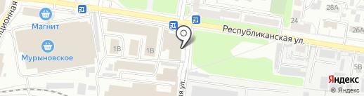 Магазин табачных изделий на карте Курска