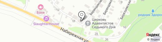 Ясень на карте Калуги
