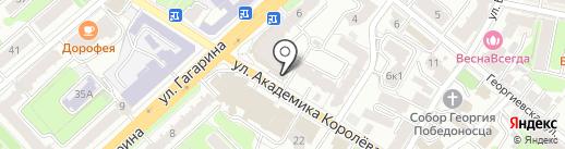 Lютик на карте Калуги