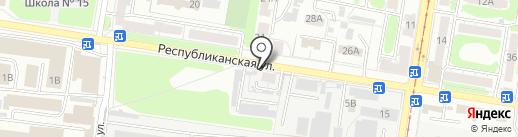 Золотая рыбка на карте Курска