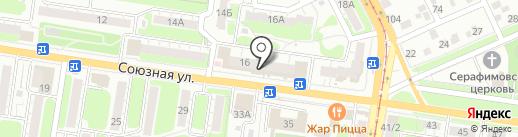 Суши весла на карте Курска