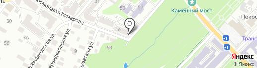 Калужский областной врачебно-физкультурный диспансер на карте Калуги