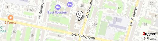 Луч на карте Калуги