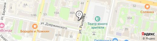 СТОКЛАЙН на карте Калуги