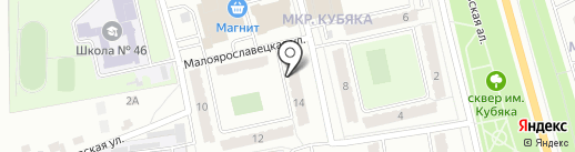 Облик на карте Калуги