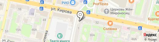 Московский кредитный банк на карте Калуги