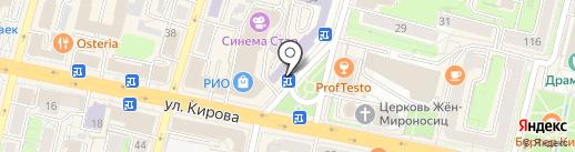Киоск по продаже хлебобулочных изделий на карте Калуги