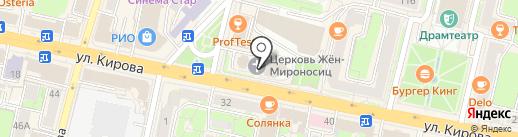 Храм в честь Святых Жен-Мироносиц на карте Калуги