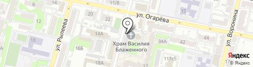 Храм в честь святого Василия Блаженного на карте Калуги
