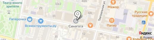 Агентство регионального развития Калужской области, ГАУ на карте Калуги