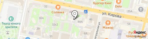 Центр гигиены и эпидемиологии по железнодорожному транспорту на карте Калуги