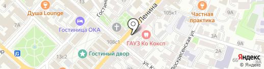 Азимут на карте Калуги