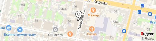 Павлопосадские платки на карте Калуги