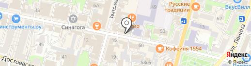Вектор на карте Калуги