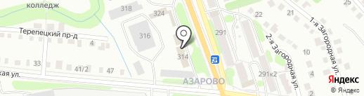 Дорожно-строительное управление №1, ЗАО на карте Калуги