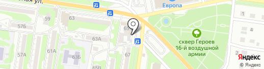 Крепежные материалы на карте Курска