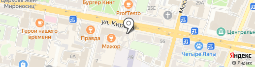 Чистюля на карте Калуги