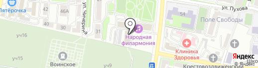 Спортивная Федерация баскетбола г. Калуги на карте Калуги