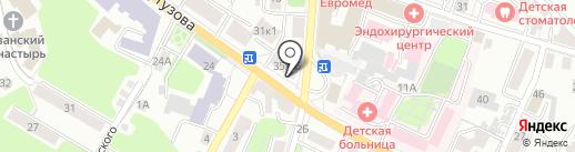Магазин канцелярских товаров на карте Калуги