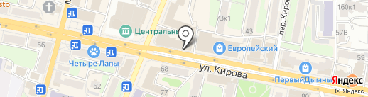 Три комода на карте Калуги