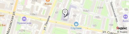 Калужский областной колледж культуры и искусств на карте Калуги