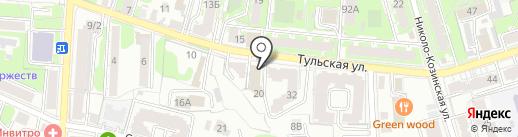 Центр охраны труда и экологии на карте Калуги