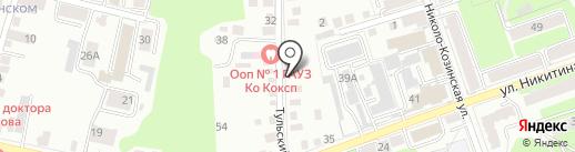 Магазин овощей и фруктов на карте Калуги