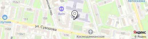 Гимназия №24 на карте Калуги