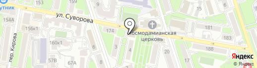 Латекс на карте Калуги
