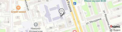 Калужский государственный университет им. К.Э. Циолковского на карте Калуги