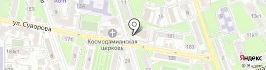 КДЮСШ №1 на карте Калуги