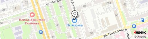 Вобла на карте Калуги