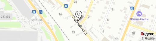 5 Колесо на карте Калуги