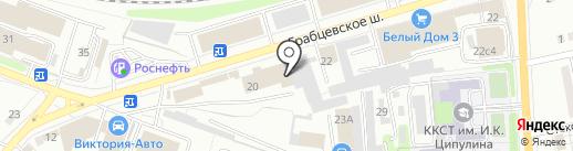 ИВС на карте Калуги