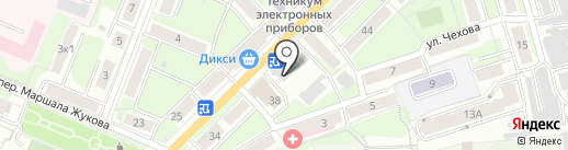Киоск по продаже фастфудной продукции на карте Калуги