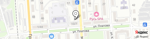 Маяковка на карте Калуги