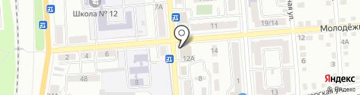 Магазин постельного белья на карте Калуги