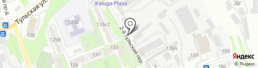Автостоянка на карте Калуги
