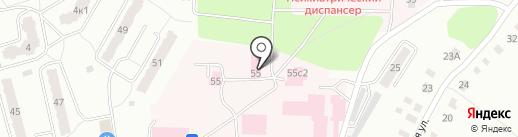 Калужская областная психиатрическая больница им. А.Е. Лифшица на карте Калуги